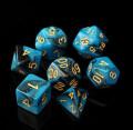 D&D DOBÓKOCKAKÉSZLET gyöngyház kék-fekete / DICE SET Dual Color Pearl Blue/Black (7)