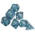D&D DOBÓKOCKAKÉSZLET csillogó kék / DICE SET Glitter Blue (7)