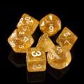 D&D DOBÓKOCKAKÉSZLET csillogó arany / DICE SET Glitter Gold (7)