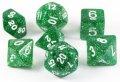 D&D DOBÓKOCKAKÉSZLET csillogó zöld / DICE SET Glitter Green (7)
