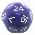 24 OLDALÚ DOBÓKOCKA tömör lila / 24 SIDED DICE Solid Purple