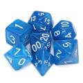 D&D DOBÓKOCKAKÉSZLET gyöngyház Mystic kék / DICE SET Mystic Blue (7)