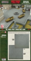 15mm WW2 Scenery - Cobblestone Town Squares
