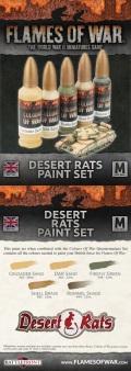 Flames of War Paint Sets - British Desert Rats Paint Set