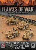 15mm WW2 German Afrika Korps Marder (7.62cm) Tank-hunter Platoon (4)