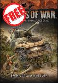 Flames of War - LateWar / Early War Free Rulebook - csak személyes átvétellel, V3 Rulebook bemutatás