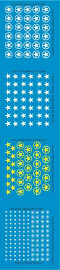 15mm WW2 Decals - Allied Star