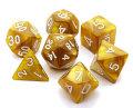 D&D DOBÓKOCKAKÉSZLET gyöngyház arany / DICE SET Gold (7)