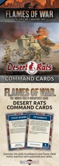 Flames of War - DESERT RATS COMMAND CARDS