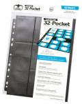 32-POCKET ULTIMATE GUARD STANDARD SIZE AND MINI AMERICAN SUPREME PAGES BLACK [32 zsebes kártyaberakó