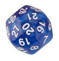 30 OLDALÚ DOBÓKOCKA gyöngyház kék / 30 SIDED DICE Pearl Blue