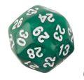 30 OLDALÚ DOBÓKOCKA gyöngyház zöld / 30 SIDED DICE Pearl Green