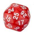 30 OLDALÚ DOBÓKOCKA gyöngyház piros / 30 SIDED DICE Pearl Red