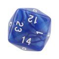 24 OLDALÚ DOBÓKOCKA gyöngyház kék / 24 SIDED DICE Pearl Blue