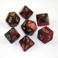 D&D DOBÓKOCKAKÉSZLET gyöngyház vörös-fekete / DICE SET Dual Color Pearl Crimson/Black (7)