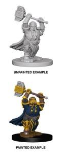 D&D Nolzur's Marvelous Minis - Dwarf Male Paladin 1