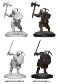 D&D Nolzur's Marvelous Minis - Earth Genasi Male Fighters (2)