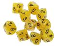 WOD DOBÓKOCKAKÉSZLET gyöngyház sárga / WOD DICE SET Pearl Yellow (10)