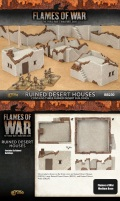 15mm WW2 Scenery - Ruined Small & Medium Desert Houses (3)