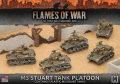 15mm WW2 US M3 Stuart Light Tank Platoon (5)