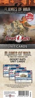 Flames of War - British Desert Rats Unit Cards (21)