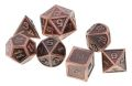 D&D DOBÓKOCKAKÉSZLET FÉM keretes antik bronz / METAL DICE SET Framed Antique Bronze (7)