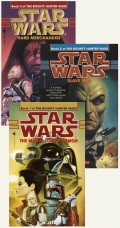 BOUNTY HUNTER WARS - 1-3. (The Mandalorian Armor, Slave Ship, Hard Merchandise) (K.W. Jeter)