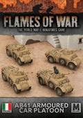15mm WW2 Italian AB41 Armoured Car Platoon (4)