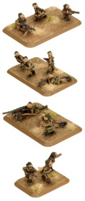 15mm WW2 Italian Bersaglieri Weapons Platoon (23+1)