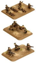 15mm WW2 Italian Bersaglieri MG & Mortar Platoon