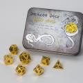 D&D DOBÓKOCKAKÉSZLET FÉM / METAL DICE SET BF Shiny Gold (7)