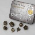 D&D DOBÓKOCKAKÉSZLET FÉM / METAL DICE SET BF Antique Gold (7)