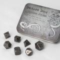 D&D DOBÓKOCKAKÉSZLET FÉM / METAL DICE SET BF Antique Silver (7)