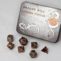 D&D DOBÓKOCKAKÉSZLET FÉM / METAL DICE SET BF Antique Copper (7)