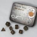 D&D DOBÓKOCKAKÉSZLET / METAL DICE SET BF Gun Metal (7)