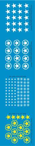 1/72 WW2 Decals - Allied Stars