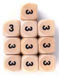 10d6 fa, számos / 10d6 Wooden Dice w/ Numbers