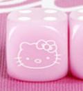 10d6 pöttyös Hello Kitty rózsaszín / 10d6 Spot Hello Kitty Pink