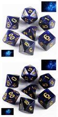 D&D DOBÓKOCKAKÉSZLET Galaxy arany számmal / DICE SET Galaxy w/ Golden Numbers (7)
