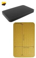 Feldherr HS025RS 25 mm (1 Inch) Figure Foam Tray Half-Size Raster Self-Adhesive