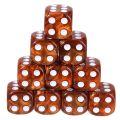 10d6 pöttyös gyöngyház barna / 10d6 Spot Pearl Brown 16mm