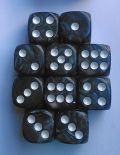 10d6 pöttyös gyöngyház fekete / 10d6 Spot Pearl Black 16mm