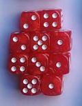 10d6 pöttyös gyöngyház piros / 10d6 Spot Pearl Red 16mm