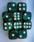 10d6 pöttyös gyöngyház sötétzöld / 10d6 Spot Pearl Green 16mm