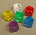 6 OLDALÚ DOBÓKOCKA átlátszó számozatlan, lila / 6 SIDED DICE Gem Blank Purple Dice 14mm