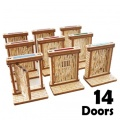 28mm Scenery - MEDIEVAL DOORS SET (14)