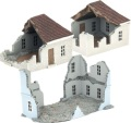 15mm WW2 Scenery - Ruined Building Special Edition Khaki