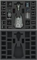 X-Wing - Feldherr FSJU050BO 50 mm (2 inches) Full-Size Foam Tray for Star Wars X-WING: Decimator, Sl