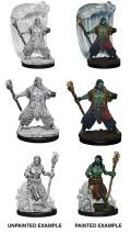 D&D Nolzur's Marvelous Minis - Water Genasi Male Druids (2)