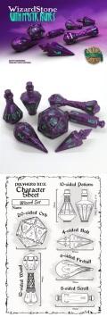 Wizard Dice Set - Wizardstone / Mystic Runes (7)